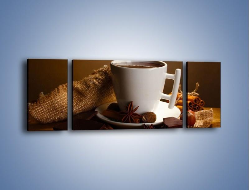 Obraz na płótnie – Gorąca czekolada z dodatkami – trzyczęściowy JN452W5