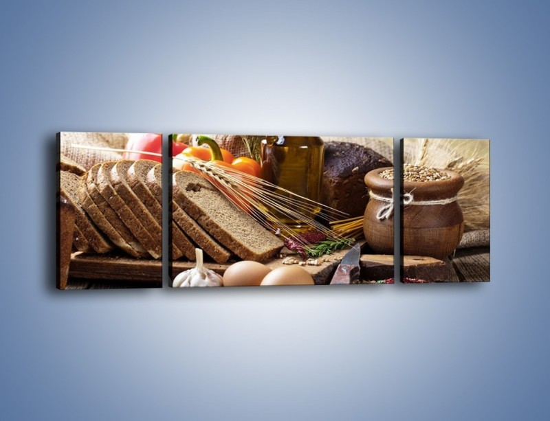 Obraz na płótnie – Chleb w roli głównej – trzyczęściowy JN501W5
