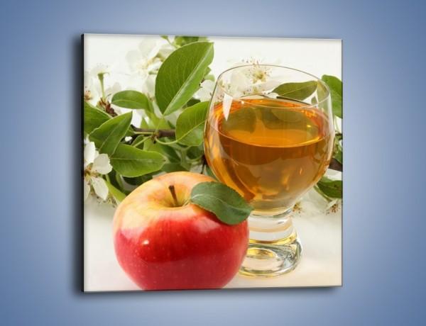 Obraz na płótnie – Świeżo wyciśnięty sok jabłkowy – jednoczęściowy kwadratowy JN044