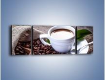 Obraz na płótnie – Dobrze odmierzona porcja kawy – trzyczęściowy JN613W5
