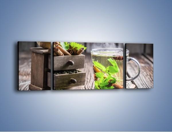 Obraz na płótnie – Herbata z duża ilością dodatków – trzyczęściowy JN667W5