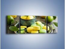 Obraz na płótnie – Cytrynowo-limonkowe ciasteczka – trzyczęściowy JN724W5