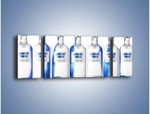 Obraz na płótnie – Czysta wódka w butelkach – trzyczęściowy JN748W5