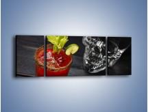 Obraz na płótnie – Czerwony drink z selerem – trzyczęściowy JN751W5