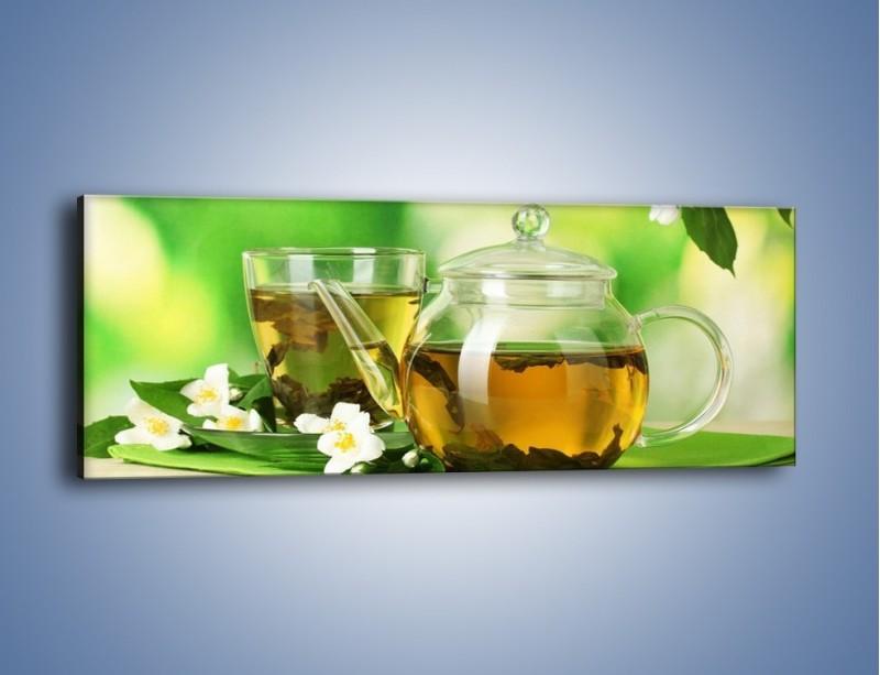 Obraz na płótnie – Herbaciane ukojenie – jednoczęściowy panoramiczny JN316