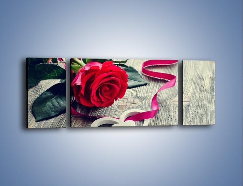 Obraz na płótnie – Od serca aż po różę – trzyczęściowy K1013W5