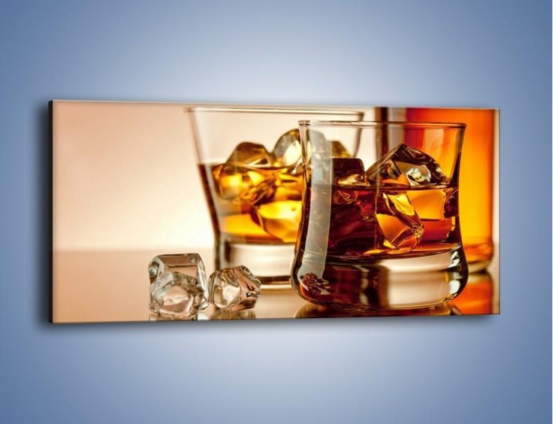 Obraz na płótnie – Męskie rozmowy przy whisky – jednoczęściowy panoramiczny JN318