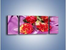 Obraz na płótnie – Błogi odpoczynek z różą – trzyczęściowy K251W5