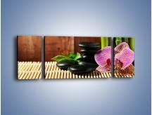 Obraz na płótnie – Bambus storczyk i kamienie – trzyczęściowy K279W5