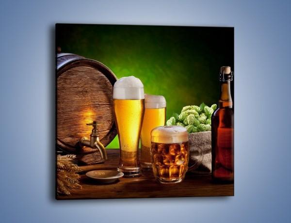 Obraz na płótnie – Pszenne piwo z beczki – jednoczęściowy kwadratowy JN053