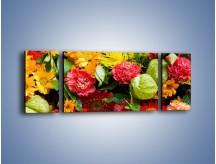 Obraz na płótnie – Bukiet pełen soczystych kolorów – trzyczęściowy K461W5