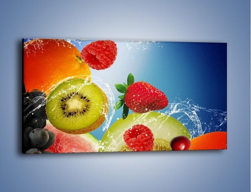 Obraz na płótnie – Owoce o poranku – jednoczęściowy panoramiczny JN331