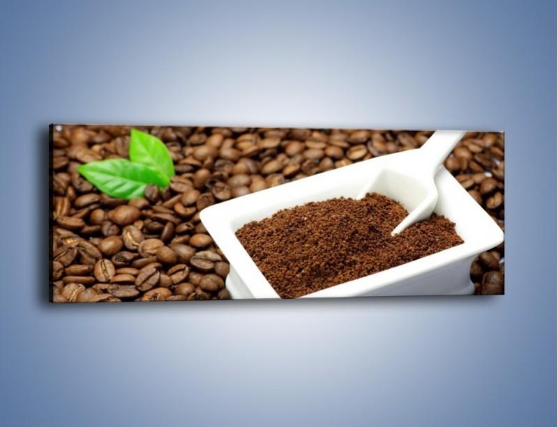 Obraz na płótnie – Zmielona kawa – jednoczęściowy panoramiczny JN340