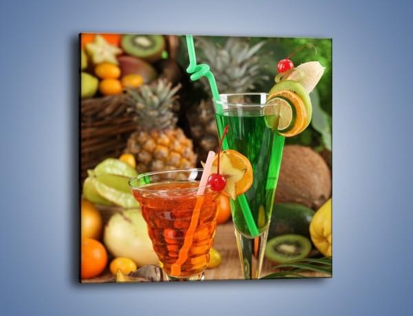 Obraz na płótnie – Kolorowe soki z świeżych owoców – jednoczęściowy kwadratowy JN060