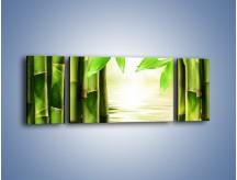Obraz na płótnie – Bambusowe liście i łodygi – trzyczęściowy KN027W5