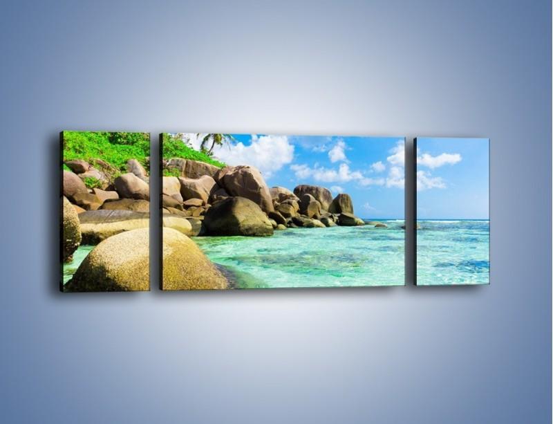 Obraz na płótnie – Lazurowa woda w tropikach – trzyczęściowy KN035W5
