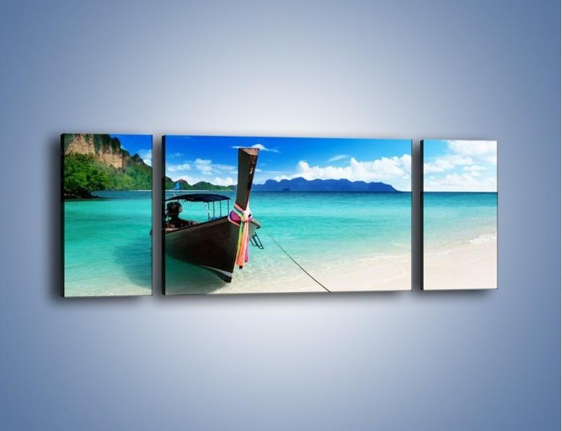 Obraz na płótnie – Wodny transport w tajlandii – trzyczęściowy KN083W5