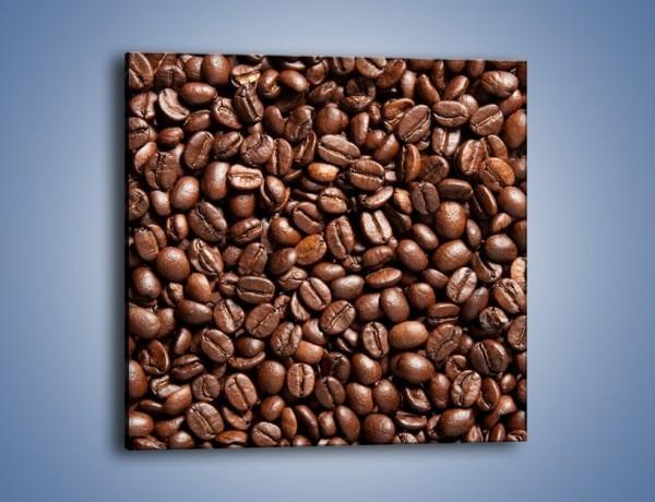 Obraz na płótnie – Ziarna świeżej kawy – jednoczęściowy kwadratowy JN061
