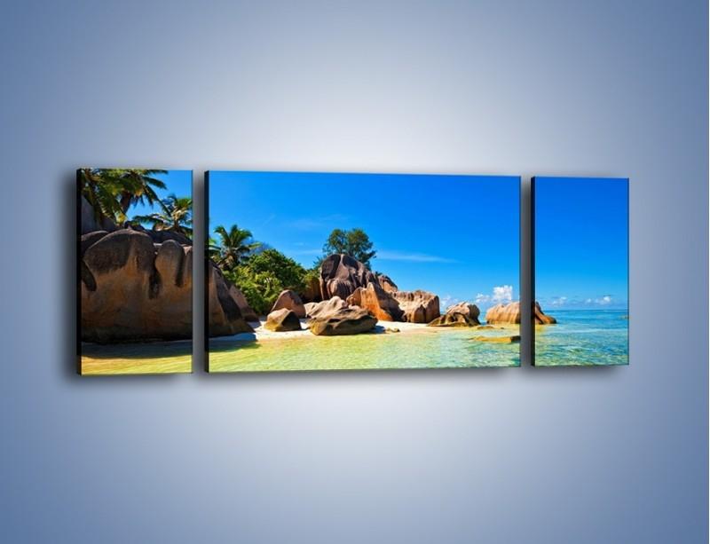 Obraz na płótnie – Bezludna wyspa i ja – trzyczęściowy KN1058W5