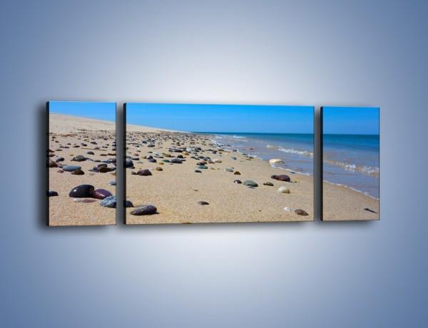 Obraz na płótnie – Całe morze kamyczków – trzyczęściowy KN1086AW5