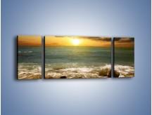 Obraz na płótnie – Brzegiem w stronę morza – trzyczęściowy KN1092AW5