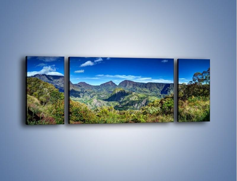 Obraz na płótnie – Zieleń ukryta wysoko w górach – trzyczęściowy KN1106W5