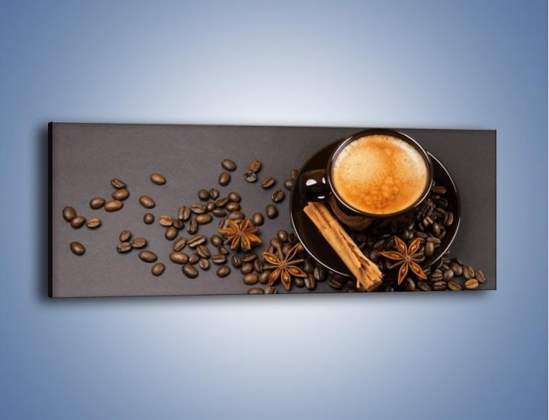 Obraz na płótnie – Kawa z goździkiem – jednoczęściowy panoramiczny JN349