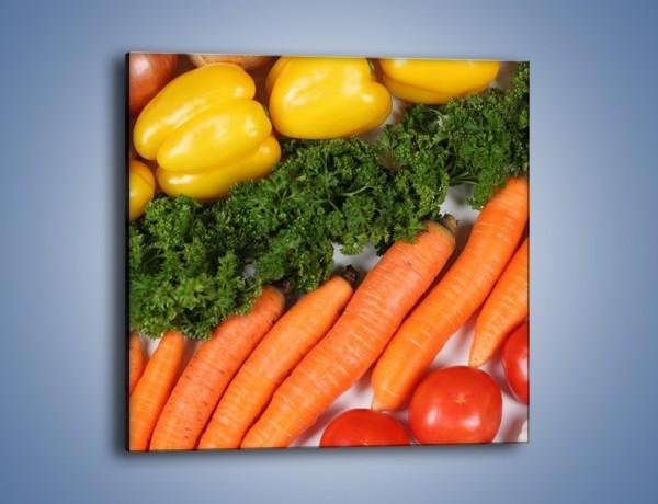 Obraz na płótnie – Warzywny porządek – jednoczęściowy kwadratowy JN063