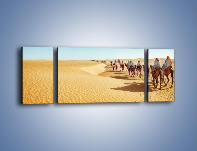 Obraz na płótnie – Szła karawana przez pustynię – trzyczęściowy KN1173AW5
