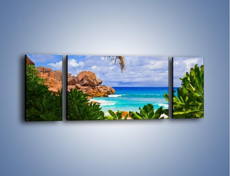 Obraz na płótnie – Urlop pod palmami – trzyczęściowy KN1191AW5