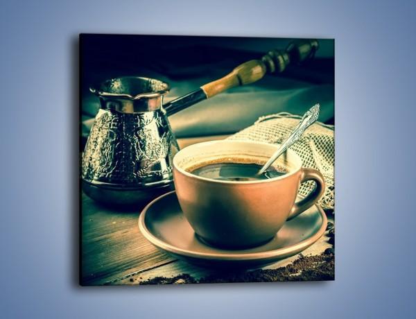 Obraz na płótnie – Czarna kawa arabica – jednoczęściowy kwadratowy JN064