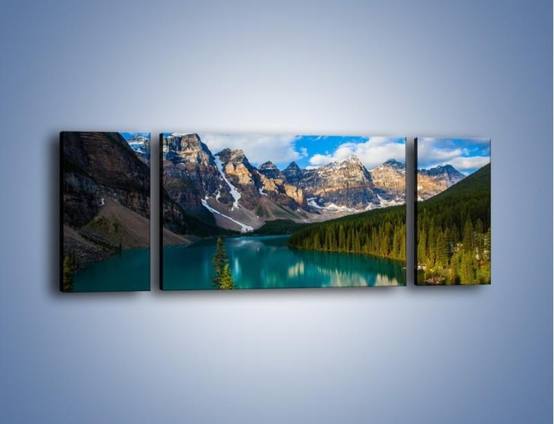 Obraz na płótnie – Spokój w górach – trzyczęściowy KN1258AW5