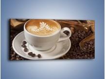Obraz na płótnie – Czas na kawę – jednoczęściowy panoramiczny JN353
