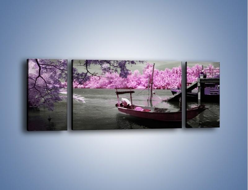 Obraz na płótnie – Krajobraz jak z japonii – trzyczęściowy KN1277AW5