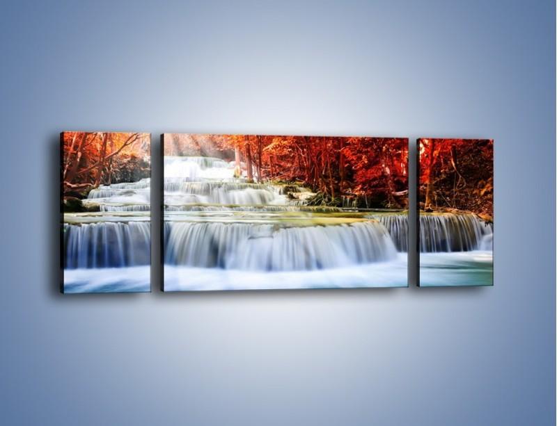Obraz na płótnie – Jak przyjemnie nad wodą – trzyczęściowy KN1291AW5
