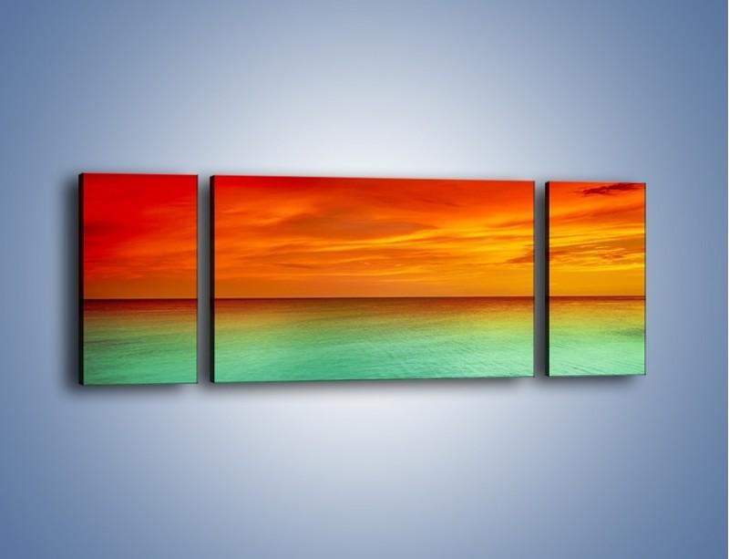Obraz na płótnie – Horyzont w kolorach tęczy – trzyczęściowy KN1303AW5
