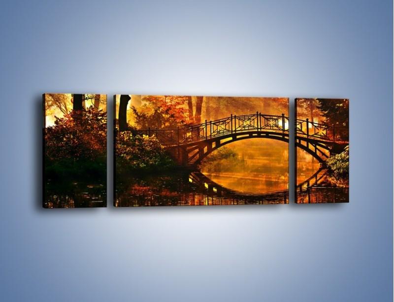 Obraz na płótnie – Cudowny spacer jesienną porą – trzyczęściowy KN1319AW5