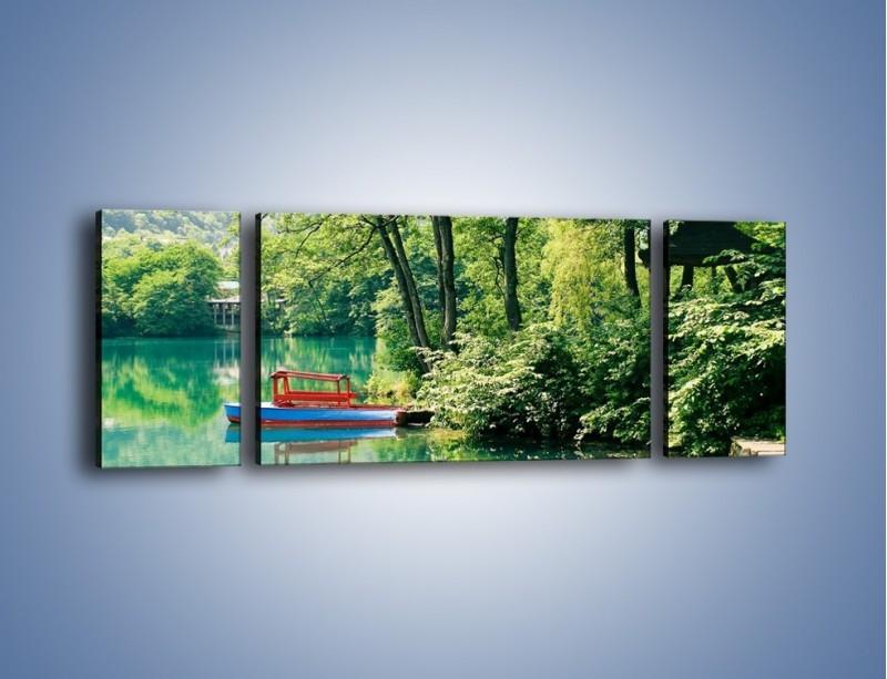 Obraz na płótnie – Wakacje nad jeziorem – trzyczęściowy KN155W5