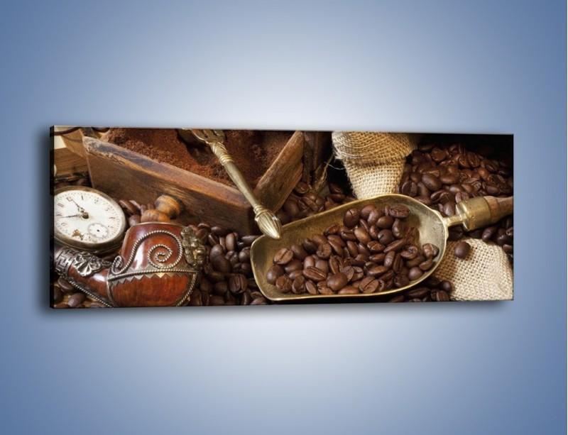 Obraz na płótnie – Szuflada pełna kawy – jednoczęściowy panoramiczny JN356