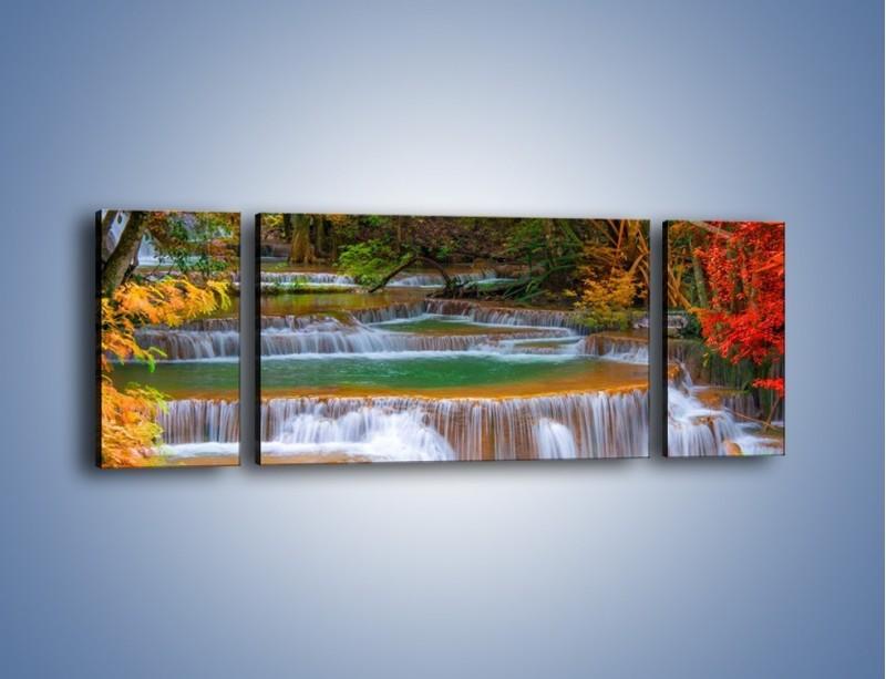 Obraz na płótnie – Schodki z wodospadów – trzyczęściowy KN287W5