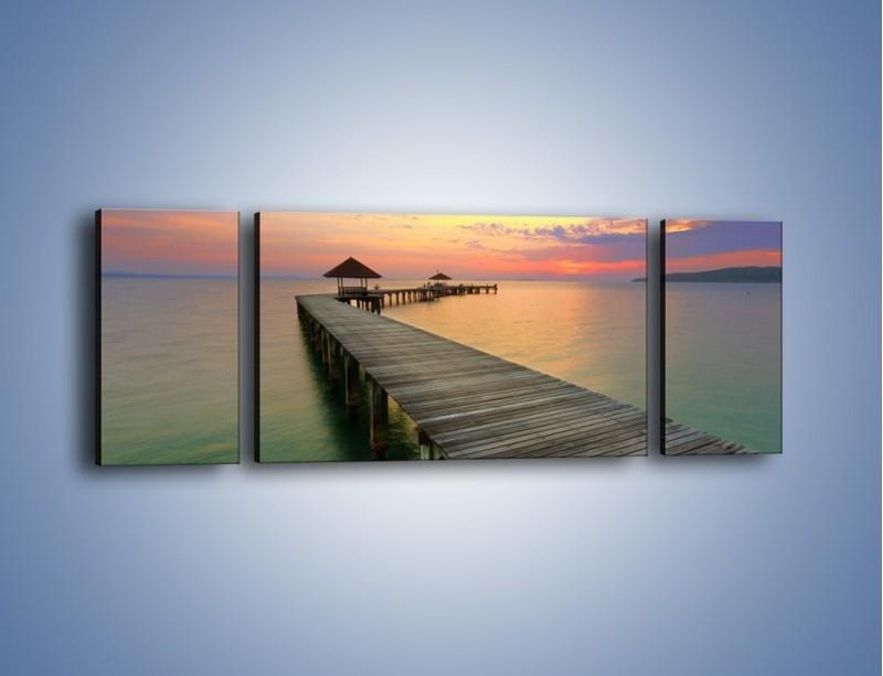 Obraz na płótnie – Krętym pomostem do morza – trzyczęściowy KN327W5