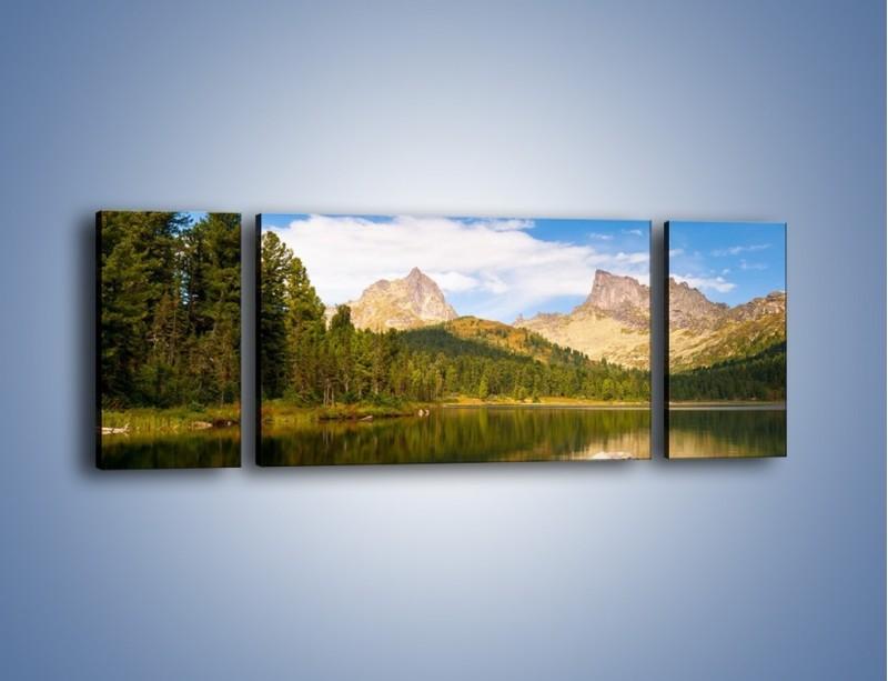 Obraz na płótnie – Widok nie tylko na góry – trzyczęściowy KN401W5