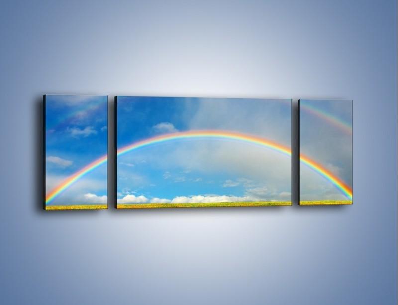 Obraz na płótnie – Urok kolorowej tęczy – trzyczęściowy KN406W5