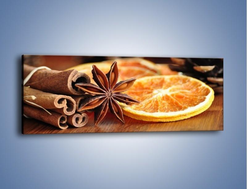 Obraz na płótnie – Pomarańcza z dodatkami – jednoczęściowy panoramiczny JN357