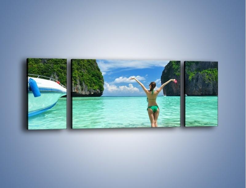 Obraz na płótnie – Udane wakacje w ciepłych krajach – trzyczęściowy KN530W5