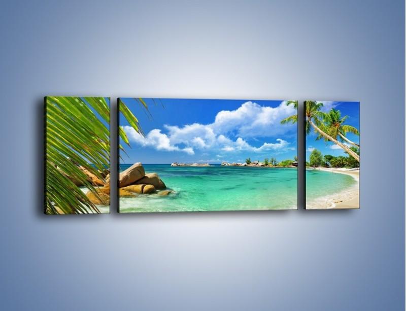 Obraz na płótnie – Tropikalna wyspa z katalogu – trzyczęściowy KN565W5