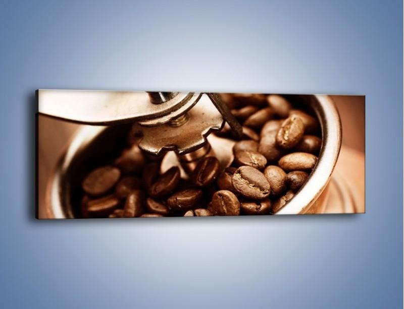 Obraz na płótnie – Kawa w młynku – jednoczęściowy panoramiczny JN361