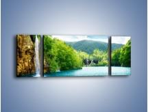 Obraz na płótnie – Cały urok górskich wodospadów – trzyczęściowy KN769W5