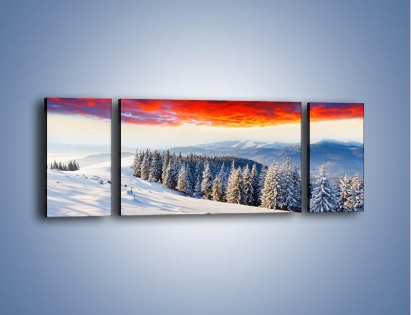 Obraz na płótnie – Cały urok gór zimą – trzyczęściowy KN805W5