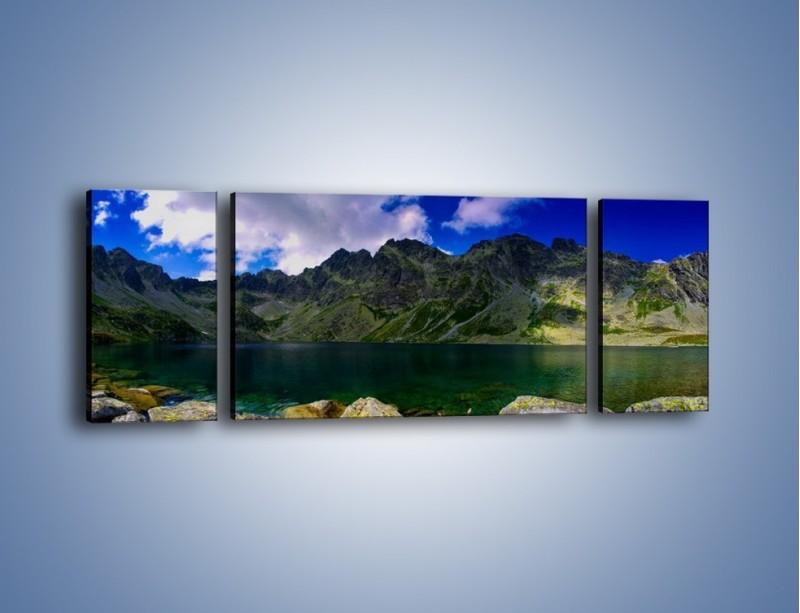 Obraz na płótnie – Horyzont górskich szczytów – trzyczęściowy KN856W5